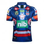 Camiseta Rugby Newcastle Knights Hombre Acero 2017 2018 Azul