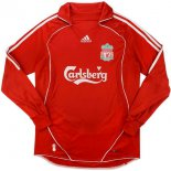 Camiseta Liverpool 1ª ML Retro 2006 2007 Rojo
