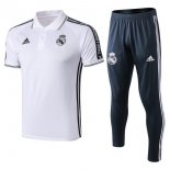 Camiseta Polo Conjunto Completo Real Madrid 2019-2020 Blanco