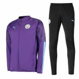 Chandal Manchester City 2019-2020 Purpura Negro