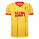 Camiseta Liverpool 2ª Retro 1982 1983 Amarillo