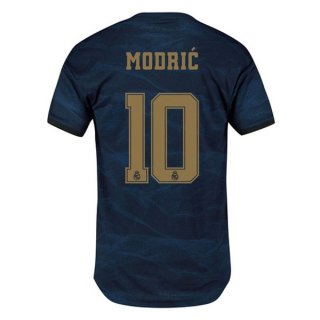 Camiseta Real Madrid NO.10 Modric 2ª 2019-2020 Azul