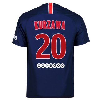 Camiseta Paris Saint Germain 1ª Kurzawa 2018-2019 Azul