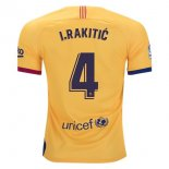 Camiseta Barcelona NO.4 I.Rakitic 2ª 2019-2020 Amarillo