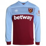 Camiseta West Ham United 1ª ML 2019-2020 Azul Rojo