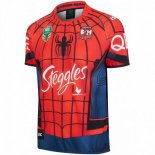 Camiseta Rugby Sydney Roosters Spider Man 2017 2018 Rojo