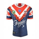 Camiseta Rugby Sydney Roosters Anzac 2018 Azul