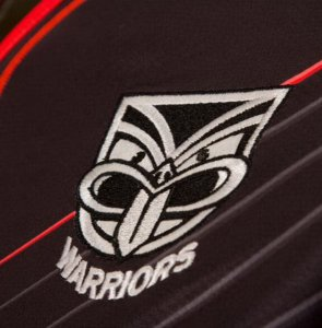 Camiseta Rugby Warriors En el Campo 2017 2018 Negro