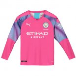 Camiseta Manchester City ML Portero 2019-2020 Rosa