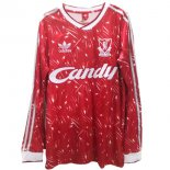 Camiseta Liverpool 1ª ML Retro 1989 1991 Rojo