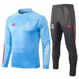 Chandal Real Madrid 2020-2021 Azul Claro Gris